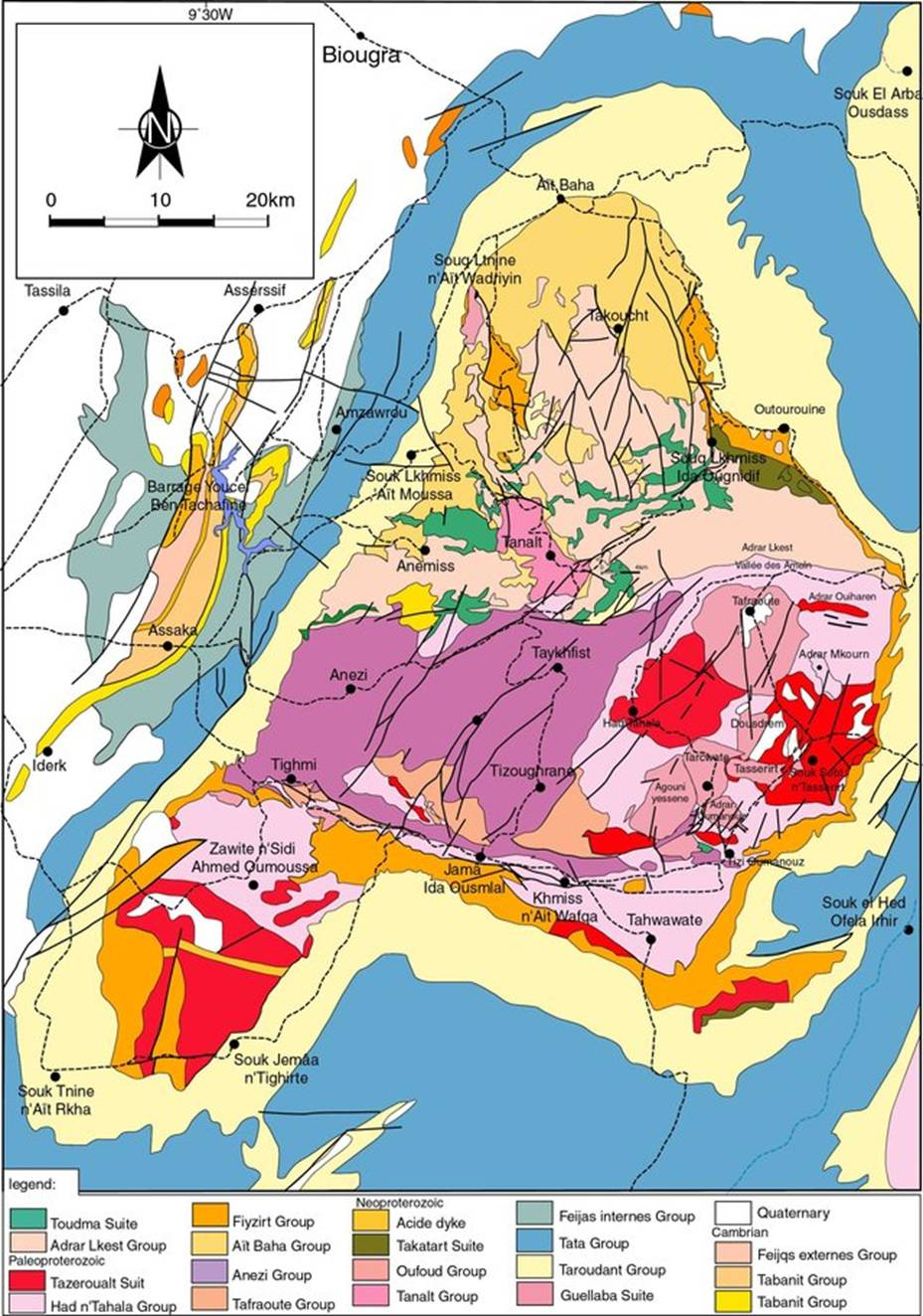 https://www.researchgate.net/profile/Soulaimani_Abderrahmane/publication/313695514/figure/fig8/AS:668592215437319@1536416214600/Simplified-geological-map-of-the-Kerdous-Precambrian-inlier-redrawn-from-the-geological_W640.jpg